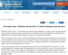 """2019 May UNHR: UN expert says """"collective persecution"""" of Julian Assange must end now What Are Human Rights, United Nations Human Rights, Persecution, Lawyers, Other People, Articles, Writing, Sayings, Collection"""