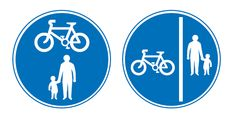 Cyclists: Take care when passing pedestrians, especially children, older or disabled people - allow plenty of room.