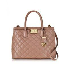 1051466e26b6e Michael Kors Hannah Large Umhängetasche aus gestepptem Leder Pink Handbags