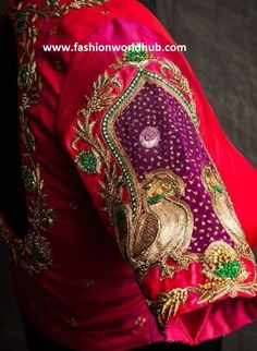 Latest Maggam work blouse designs for Pattu sarees Blouse Outfit, Saree Blouse, Sleeve Designs, Blouse Designs, Latest Maggam Work Blouses, Indian Wear, Beautiful Outfits, Sarees, Fashion Ideas
