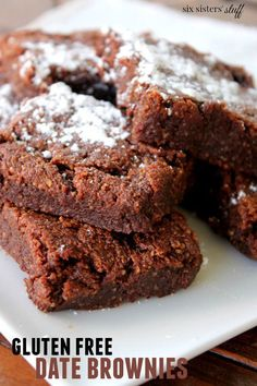 Gluten Free Date Brownies – Six Sisters' Stuff