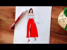 Blue & White Dress Drawing - YouTube