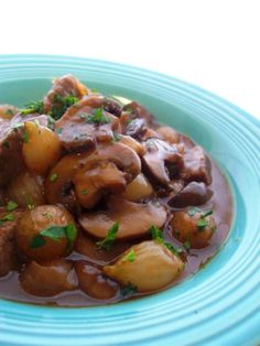 Beef bourguignon - the perfect all in one dinner. Serve with French bread. Bon Appetit