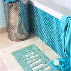 Blue Aqua Small Bathroom decor