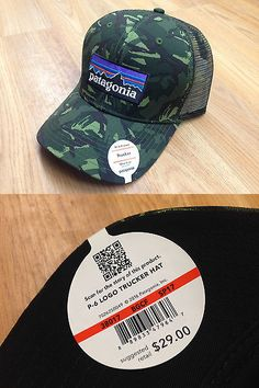 fd6e30f8234 Hats and Headwear 70810  Patagonia P-6 Logo Trucker Hat Big Camo Fatigue  Green