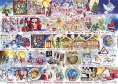 Christmas Alphabet Jigsaw 1000 pcFrom gingerbread baking to decorating the tree; Val Goldfinch has created a Christmas montage that's filled with festivities in this Christmas Alphabet Jigsaw 1000 pc! Made from thick, durable board that is 100% recycled Puzzle dimensions: 48x68cm Box dimensions 35 x 6 x 25 cm Comes with a print-out of the puzzle image Beautifully illustrated by Val GoldfinchCards and Gift Wrap Christmas Alphabet, Puzzle Pieces, Puzzle Board, Viborg, Goldfinch, Her Majesty The Queen, Best Artist, 1000 Piece Jigsaw Puzzles