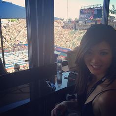 Fun day watching these amazing athletes from the #vip box at #CrossFitGames and passing out #PowerBalls!