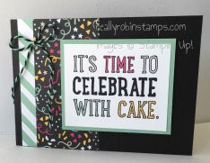 Stampin' Up!, Party With Cake, Party Pop-Up Thinlits Dies, Robin Armbrecht