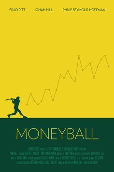 Minimalist movie poster - Moneyball