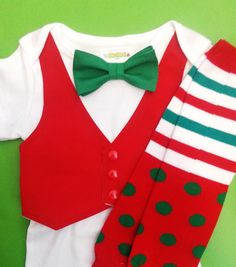 baby Boy First Christmas outfit Santa Baby girl by GinaBellas1 ...