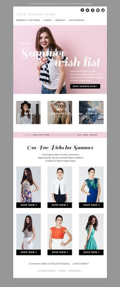 Pin By Sisi Miyake On Beauty Editorial Pinterest Layouts Email - Edm email template