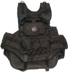 GXG Deluxe Black Paintball Tactical Vest by GxG. $44.25. GXG Vest Features: Hydration Unit Sleeve - Zippered sleeve to place a hydration bladder (upto 70oz, sold separately)Removable Contouring Foam - Can be remove and replaced when neededFlip Down ID and Card Holder - Chest pocket now has an extra panel whichflips down to easily display ID and view maps & info.Movable Radio Pouch Redesigned Shoulder Straps - Shoulder straps now havenylon loops and D-rings for attaching a...