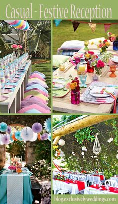 wedding receptions, color, wedding ideas, decorating ideas, casual, reception ideas, wedding blog, festival wedding, outdoor weddings
