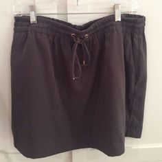 Express Skirt Never worn - grey - elastic waist with tie - silky material and lined. Express Skirts Mini