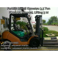 [ FOR SALE ] FORKLIFT KOMATSU 2.5 Ton,Tipe  FD25-16, Transmisi Manual, Lifting Height 3 M, Engine Diesel Yanmar 4D94LE,  087776518465.