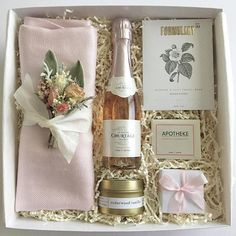 """Bridesmaid Invite - bottle of prosecco, """"will you be my bridesmaid"""", scent? bracelet (rose gold?)"""