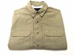 5.11 Tactical Series Men's M Coyote Khaki Button Front Short Sleeve Shirt Medium #511Tactical #ButtonFront