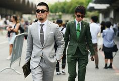 (This can be straight from an anime) Street-Style Photographer Tommy Ton Shoots the Menswear Scene