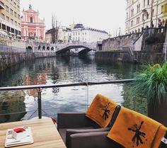 Décor idéal pour mon dernier déjeuner à Ljubljana !  #ifeelslovenia  #travel  #slovenia  #citytrip by chris_voyage #travel