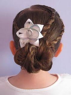 uneven rope braids and a messy bun