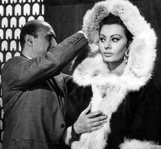 "Sophia Loren on the set of ""The Fall of the Roman Empire"""