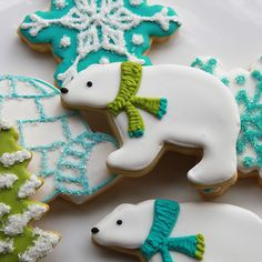 Winter Wonderland Cookies (how awesome would this be to have at the Polar Cap race?!?!!!)