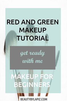Red and Green Makeup Tutorial for Beginners to Learn Eyeshadow Basics Step by step, colorful makeup tutorial video for beginners including foundation, eyeshadow, contouring. This works well for brown eyes, for Foundation Makeup, Foundation Tips, Makeup Tutorial Step By Step, Makeup Tutorial For Beginners, Best Makeup Brushes, Best Makeup Products, Contouring For Beginners, Eyeshadow Basics, Mint Green Dress
