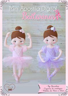 Mini Apostila Digital Bailarinas - Feltro em Duas