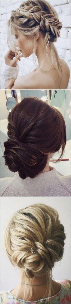 twisted bridal updos wedding hairstyle #wedding