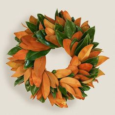 One of my favorite discoveries at WorldMarket.com: Live Magnolia Wreath