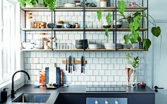 Outdoor kitchen: 45 ideas of decoration with photos - Home Fashion Trend Industrial Kitchen Design, Interior Design Kitchen, Home Decor Kitchen, Home Kitchens, Sweet Home, Kitchen Remodel, Weylandts, Color Harmony, Open Shelving