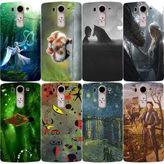 Colorful Oil Painting Hard Plastic Case For LG G Flex 2 H955 LS996 H950 Back Cover Cute Animal Anime Case For LG G Flex 2 Case #Affiliate