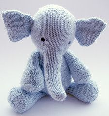 knit:  pattern $6.50, elephant stuffed animal/softie.  super cute!!!