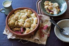 Anneka Manning's pear and rhubarb #cobbler is made from a wet, scone-like mixture. Check out our Bakeproof column for tips and recipes.