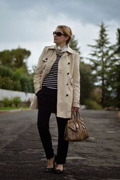 Stripes and trench miu miu bag