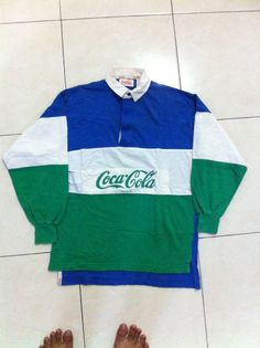 Cocacola rugby polos shirt