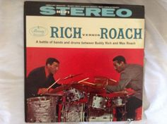 Buddy Rich And Max Roach, Rich Versus Roach,Mercury,LP Vinyl