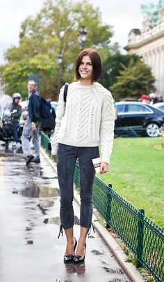 Emily Weiss in Isabel's Vichy pullover.