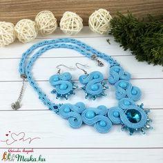 Kék csillagok sujtás nyaklánc nyakék fülbevaló szett esküvő alkalmi koszorúslány örömanya násznagy ünnepi elegáns (Arindaekszerek) - Meska.hu Crochet Necklace, Jewelry, Crochet Collar, Jewellery Making, Jewelery, Jewlery, Jewels, Jewerly, Fine Jewelry