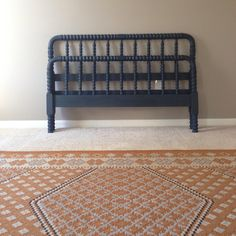 Jenny never looked so good! Refinished Jenny Lind spindle bed using DIY chalk paint