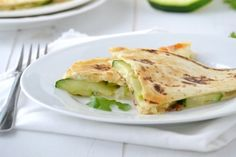 Yummy zucchini quesadillas with a hint of cilantro and turmeric