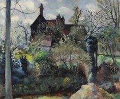 Landscape by John Arthur Malcolm Aldridge Landscape Art, Landscape Paintings, John Aldridge, Garden Painting, Garden Art, Art Uk, Cool Landscapes, Your Paintings, Exterior Paint