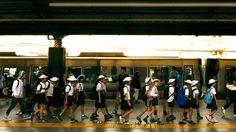 Schoolkids in Japan