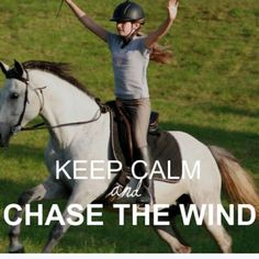 I use to do this very thing with my horse when I was a little girl.. it felt like I was flying. Horses bring a person so much freedom & joy!