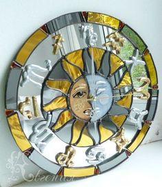 """Часы для дома ручной работы. Ярмарка Мастеров - ручная работа Часы """" Астрологические"""". Handmade."""