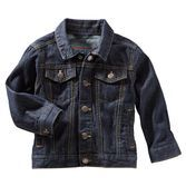 Keep warm on cooler days in this durable cotton denim jacket. Roll up the sleeves and pop the collar for a fresh look.