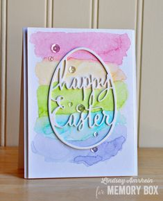 Happy Easter Pastel Rainbow by Lindsay