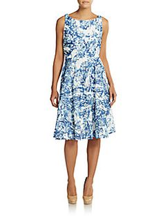 Abstract Print Lace Dress - SaksOff5th