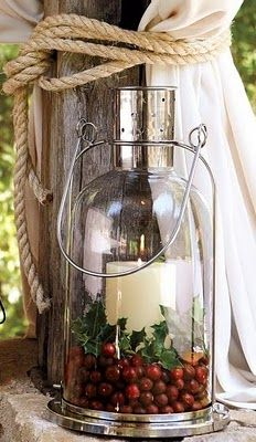 lantern love...you can also cut the bottom off of a bottle to create this!