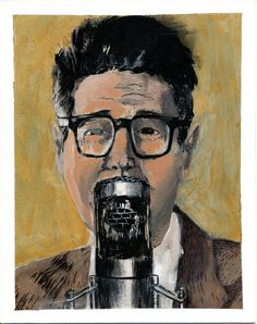 Ira Glass painting.
